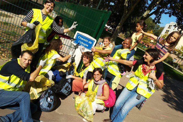 Bénévoles saintouennais du World Clean Up Day