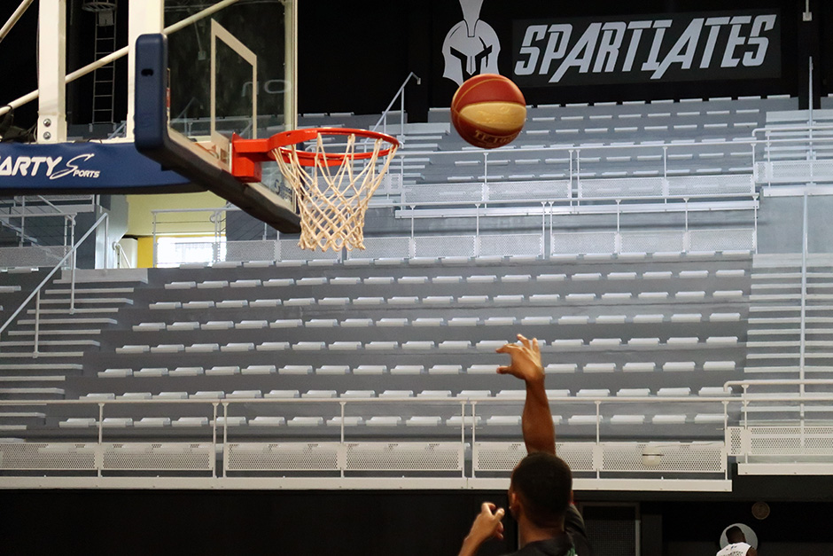 La halle basket-ball du complexe sportif Maradas-Joël Motyl à Cergy-Pontoise