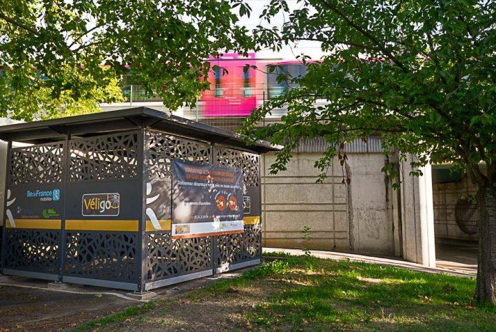La nouvelle consigne vélo Véligo à deux pas de la gare de Saint-Ouen l'Aumône