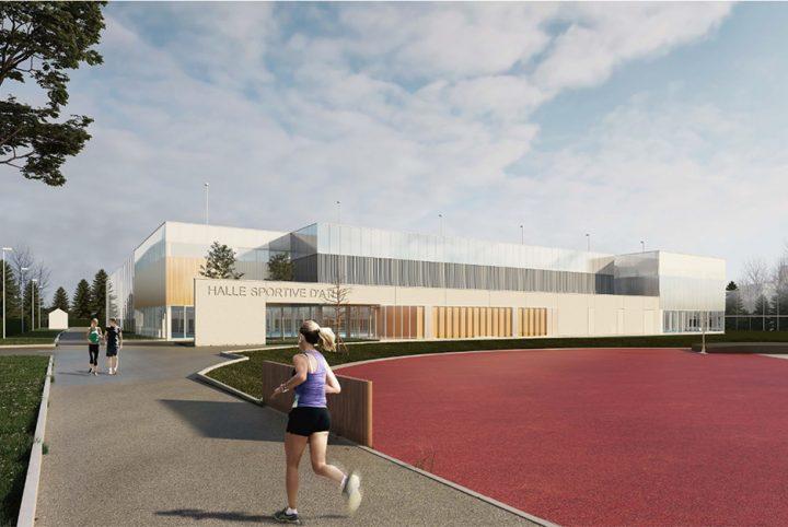 Perspective architecte Halle Athlétisme Stade Maradas-Joël Motyl