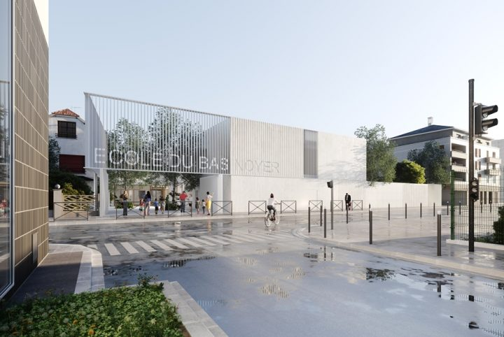La façade de la future école du Bas Noyer