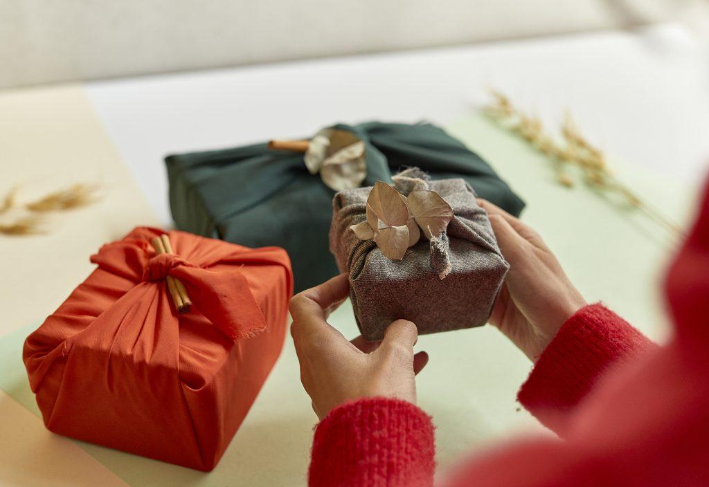 Emballages Cadeaux en tissus