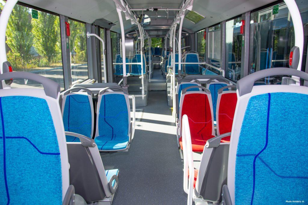 Intérieur des bus biométhane