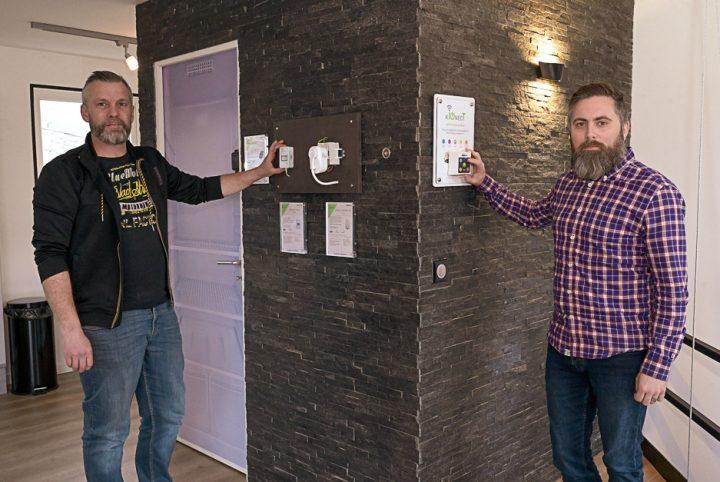 David Cavanna et Stéphane FAbre dans leur showroom