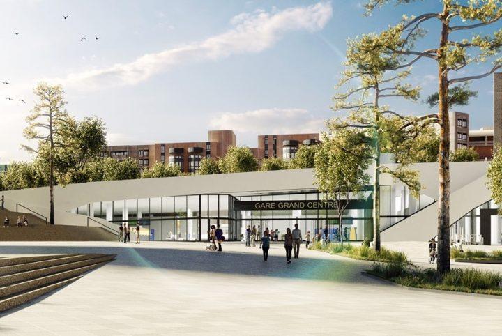 Perspective de la gare Cergy-Préfecture rénovée