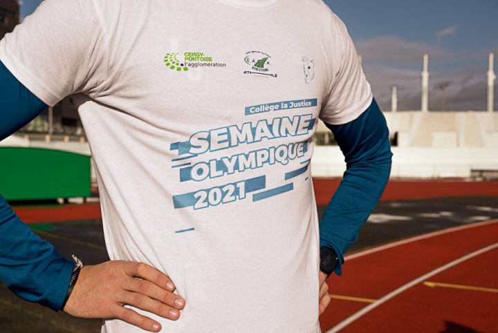 "Gros plan tee-shirt ""Semaine olympique 2021"""