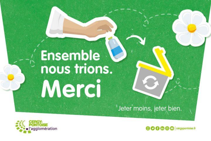 Affiche campagne Ensemble,Trions