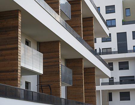 balcons des nouveaux immeubles des Marjoberts