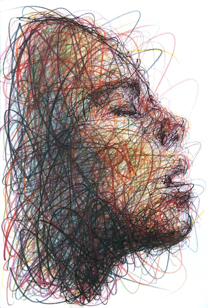 Confinement, pastels sur papier, 2020 © Hom Nguyen