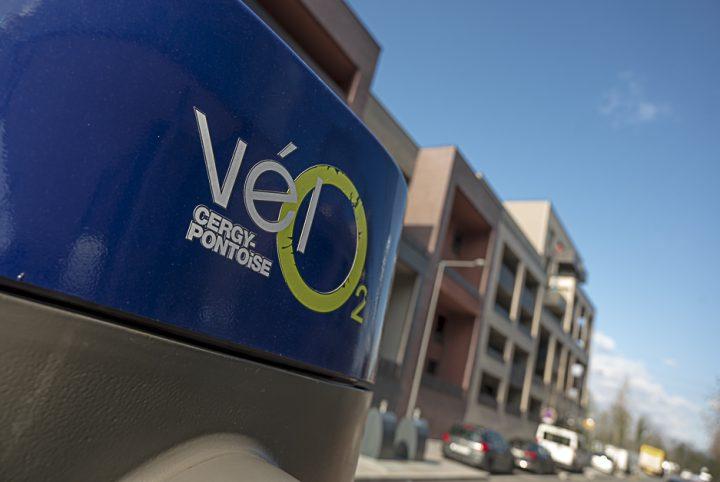 logo Vélo2 dans quartier des Marjoberts