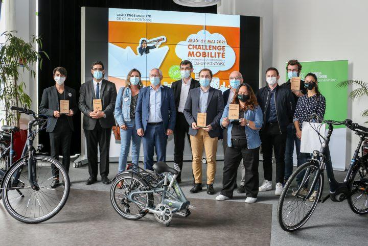 Les lauréats du Challenge mobilité 2021 © CACP-Franck Dejardin