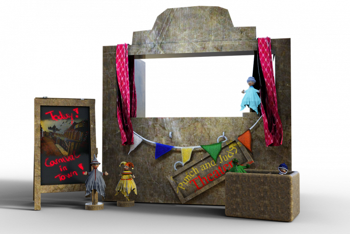 decors théâtre marionnettes Photo Pixabay