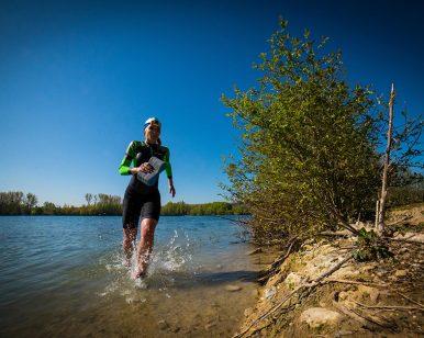Coureur Swim & Run de Cergy-Pontoise